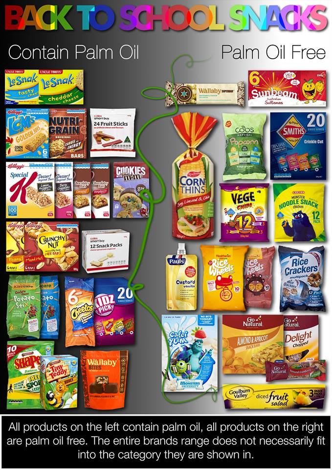 palm oil contain things environment help australian food alternatives snacks simple reusable bags sustainable apart grocery shopping rainforest destruction